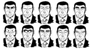 Playing with Golgo 13's Eyebrows by santirevecolepe