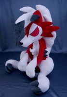 Midnight Lycanroc Pokemon plushie by adamar44