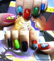 Sleeping Beauty Nails by tharesek