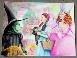 Dorothy Meets the Witches by Crookykanks
