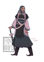[closed] Adopt - Pastel Knight by fionadoesadopts