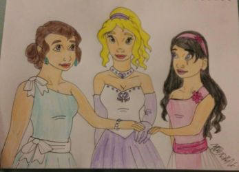 Christmas ballgown colored by Bella-Who-1