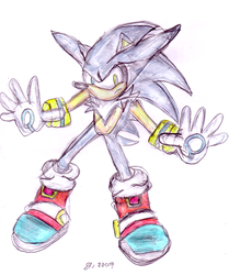 Sonic+Silver Fusion -Coloured- by TitanHedgehog