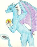a blue dragon by Marl1nde