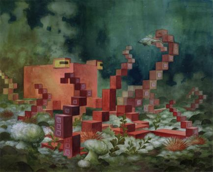 'Menagerie' Series: Octopus by Biffno