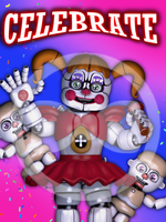 FNAF SL - Celebrate Poster! by GamesProduction