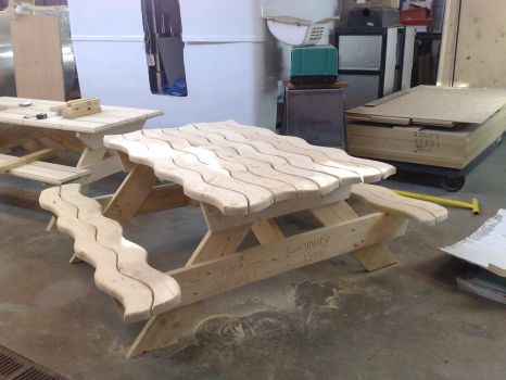 'The Wave' Picnic Table by carandrats