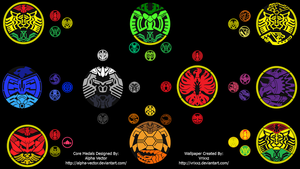 Kamen Rider OOO Core Medals Wallpaper by vrixxz