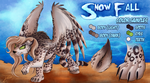 Reference Sheet - Snow Fall (Snow Leopard Pegasus) by jamescorck
