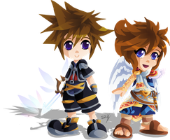 Sora and Pit by Lady-of-Link