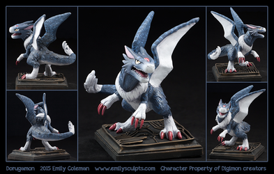 Commission : Dorugamon by emilySculpts