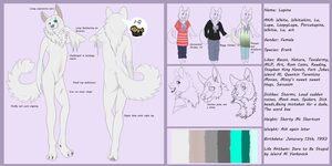Lupine Anthro Reference by Whitelupine