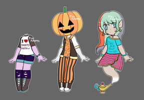 (Closed) halloween adopts by PixiWaltz
