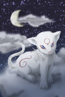Kabegami, in the sky by Kaorien