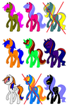 Adoptable batch 2 (9/9 OPEN) by StormDragon-MLP