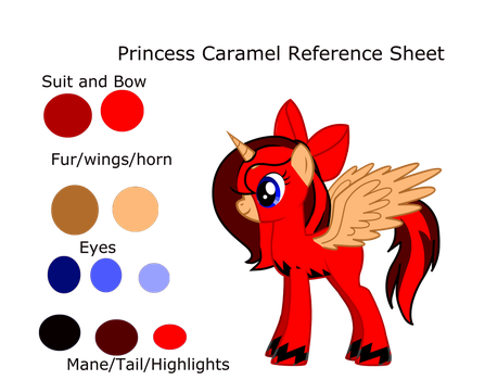 Princess Caramel Reference Sheet by Enderpony626