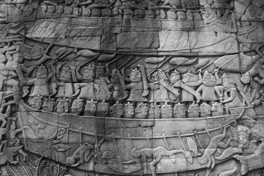 Bas-relief of Bayon by CanisDiabolos
