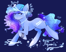 Zodiac Pony Aquarius by SaphireCat11