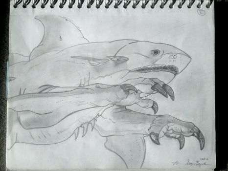 Very Cool Prehistoric Shark by SoniaLove100
