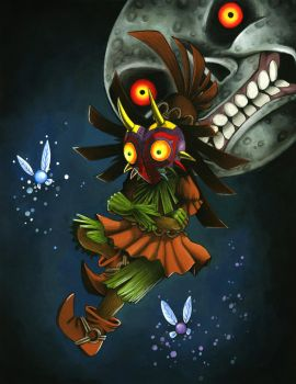 Eyes- Skull Kid Ascending by Riskyo