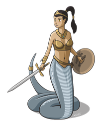 Naga Warrior Princess by kar