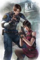 Resident Evil 2- Leon and Ada by JohnLaw82