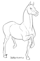 Racking Horse Lineart by Manic-and-Monstrous