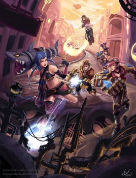 League of Legends - A day in Piltover by ElinTan
