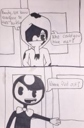 BATIM and Cuphead: New Friends Pt1: Pg2 by jellyb3an3