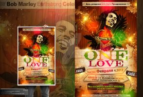 One Love Party Flyer by Gallistero