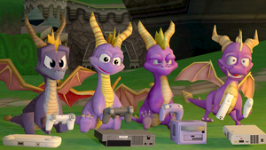 (SFM Spyro) Four dragons playing video games... by Thunder-Artist