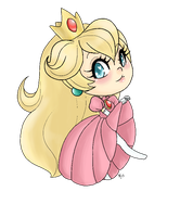 Itty Bitty Princess Peach by Madame-Lemon