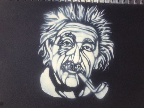 Albert Einstein Stecil by Hidingbehingmywork