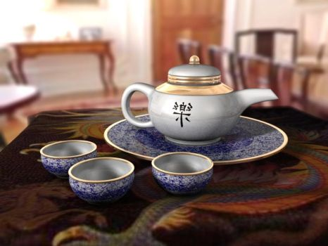 Chinese Tea Set by Soulflame81