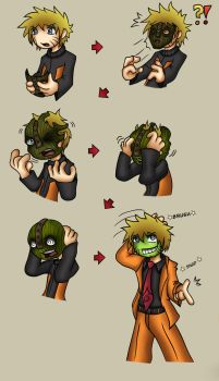 Naruto as The Mask Coloured by Kelrick by OnyxSteelGray1213