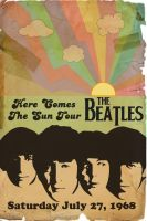 Beatles Retro Tour Poster by rsholtis