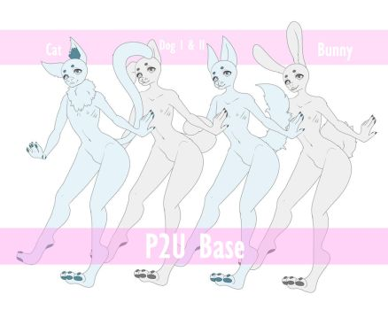 P2U Male Base 6 [ Anthro ] by Ririkou-Adopts