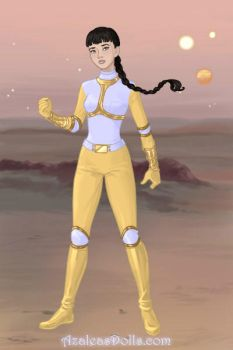 Trini as Dairanger Yellow by CoralLeaf