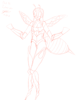 30 Days Of Monster Girls Day 13 Insect (bee girl) by GtsMayCry7