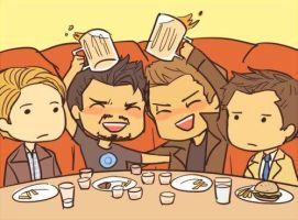 Tony stark and Dean Winchester by Crowleywife