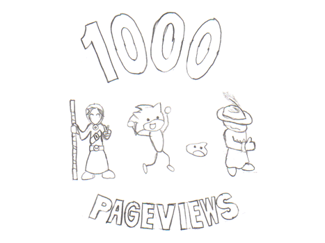 1000 Pageviews - Sketch by WiteoutKing