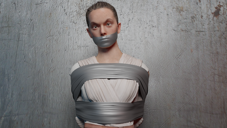 Duct Taped Rey by TheBlenderTaper