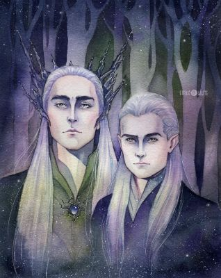 Thranduil and Legolas by Kinko-White