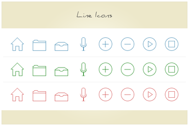 40 Line Icons (freebie by pixelcave) by pixelcave
