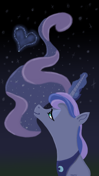 Luna's Love Can Move the Stars by InoPony