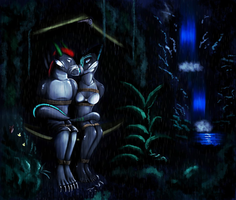 Shade and Venetia, Bound in Paradise by MistressVeronica