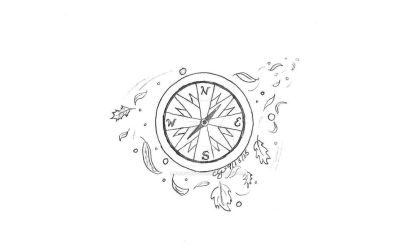 Compass-B/W by fairywings86