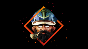 Kunkka Dota 2 Low Poly Art by giftmones