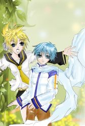 Vocaloid postcard liminated by pearsmallsky