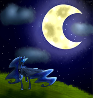 MLP ~ The Moon Riser by overtherainbw